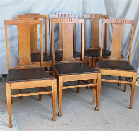 Matching Oak Furniture by Bargain S Antiques 187 Archive Antique Set Of Six