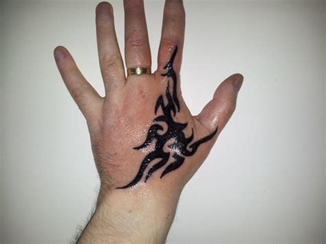 tattoo in hand for men 19 tribal tattoos designs for fingers