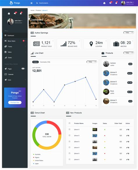 clean admin template gallery templates design ideas