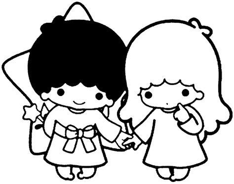 liltle twinstar colouring pages