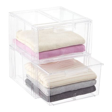 Clear Drawers by Clear Stackable Sweater Drawer The Container Store