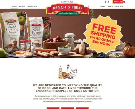 bench and field dog food bench field health food for pets