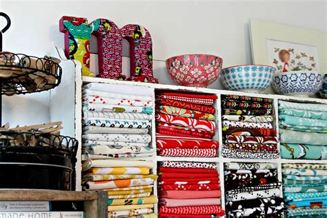 your stash with creative fabric storage ideas