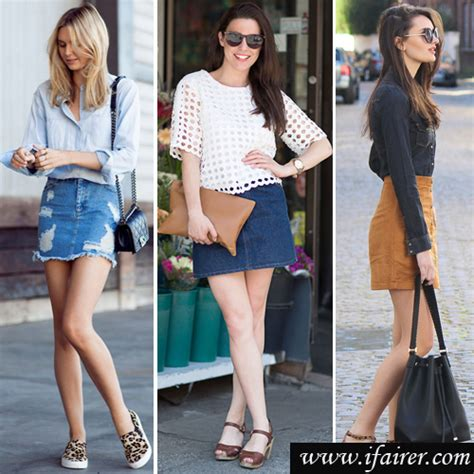 what shoes to wear with denim skirts styling tips slide 1