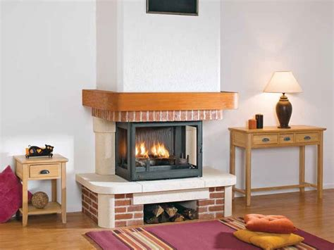 3 Sided Fireplace Wood Burning by Wood Burning 3 Sided Fireplace With Panoramic Glass Kenza