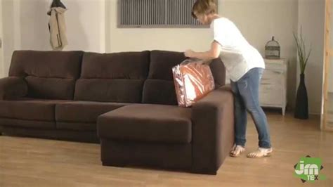 How To Put A Stretch Chaise Sofa Cover Youtube