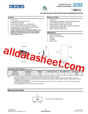 diodes inc ta suffix fmmt619ta datasheet pdf diodes incorporated