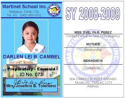 school id card template pdf school id template free 28 images image gallery