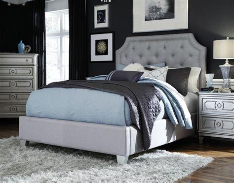 majik windsor queen upholstered bed dresser mirror chest nightstand rent