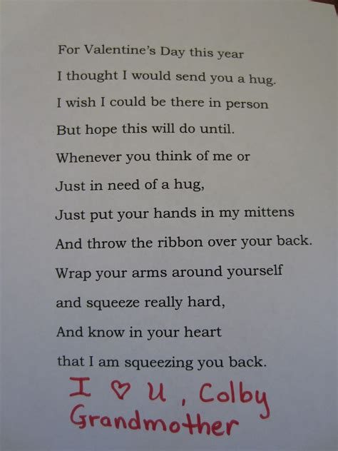 Patchwork Poem - my patchwork quilt a hug from grandmother