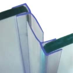vertical bath shower screen seals back fins sliding door