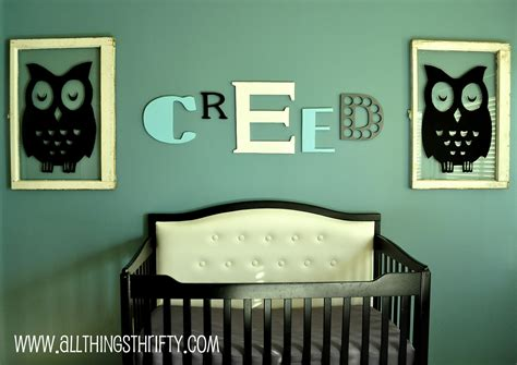 baby boy nursery completed