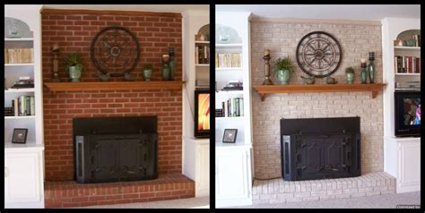 paint brick fireplace before after fireplace decorating my brick painted fireplace is stunning