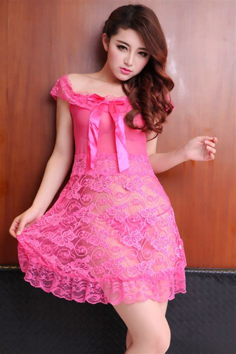 Piyama Baju Tidur Dress 15 moq 1pc transparent lace nightdress european and american stylish beautiful minion pajamas
