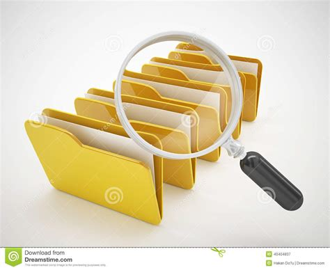 D Search Search File Or Computer File Icon Stock Illustration