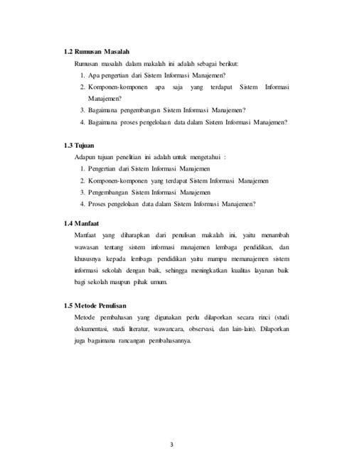 membuat makalah sistem informasi manajemen sistem informasi manajemen artikel