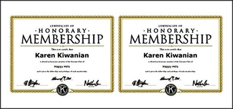 honorary certificate template honorary membership certificateformat sle templates