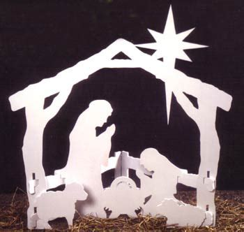 wooden plan idea choice nativity scene pattern