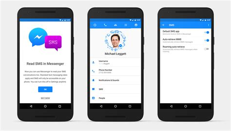 messenger for android you can now send and receive text messages directly from messenger for android app