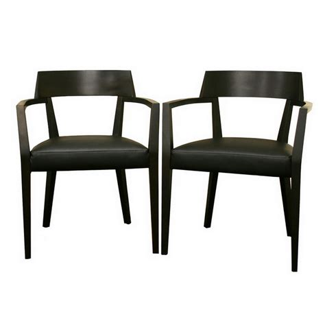 Dining Chairs Faux Leather Wenge Wood And Faux Leather Modern Dining Chair Set Of 2 In Dining Chairs
