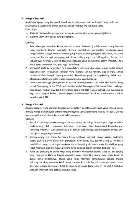 Contoh Paragraf Narasi Pengembangan Gagasan Pola Urutan