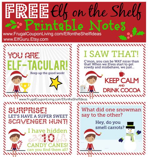 printable elf on the shelf free elf on the shelf notes