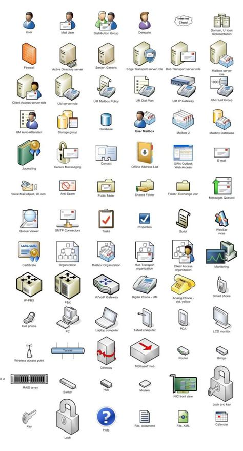 visio icons for powerpoint visio clipart 56