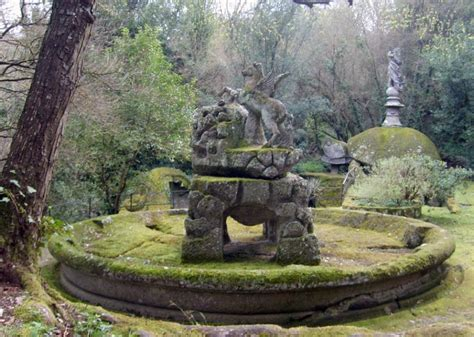 Fairy Garden Statues The Park Of Monsters At Bomarzo In Italy