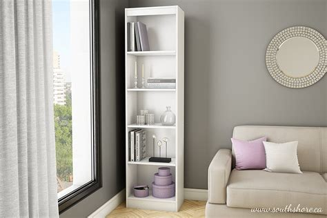 white 5 shelf bookcase 187 top 15 narrow bookshelf and bookcase collection