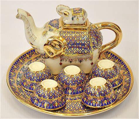 Cangkir Kopi Teh Set Coffee Tea Set Cup Merk Regency Motif Lavender benjarong benjarong thai เบญจรงค s blue colors teas and teapot