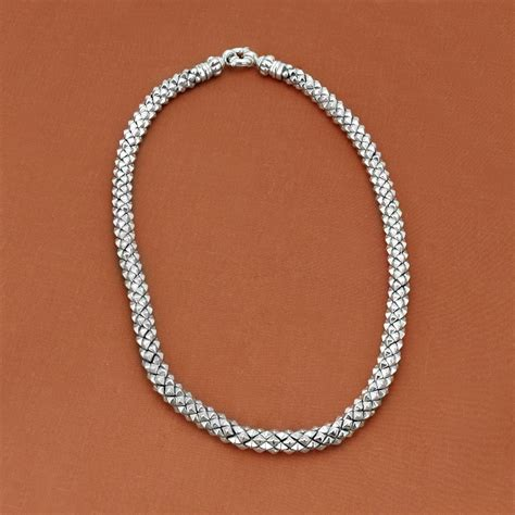 silver for jewelry lagos sterling silver caviar rope necklace designer