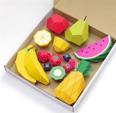 How To Make Fruit Out Of Paper - play fruit paper fubiz media