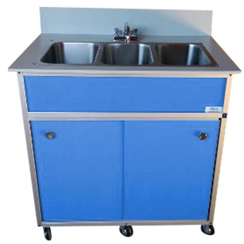 shop monsam blue basin stainless steel portable