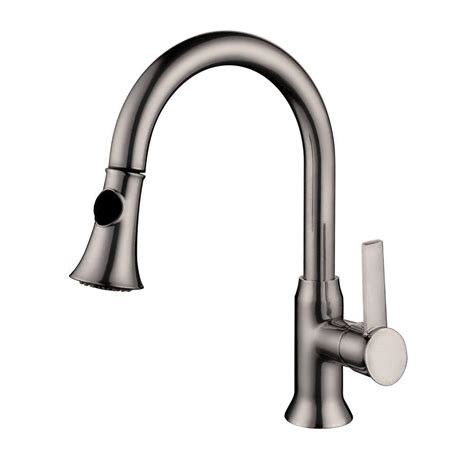 brushed nickel single handle kitchen faucet yosemite home decor single handle pull out sprayer kitchen faucet in brushed nickel yp9314 bn