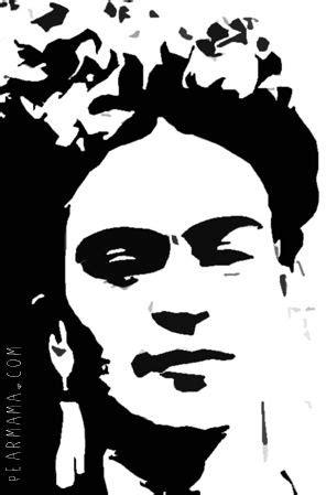 frida kahlo stencil printable frida kahlo