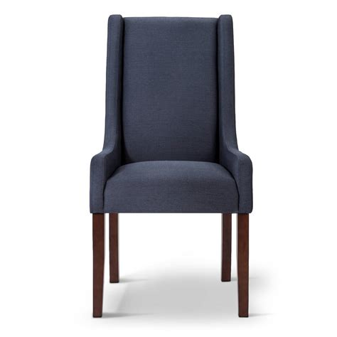 Beige Wingback Chair by Modern Wingback Swoop Arm Dining Chair Beige 1