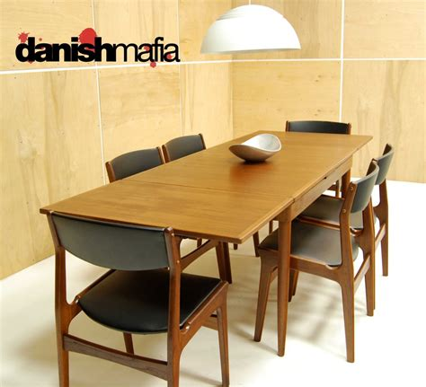 mid century modern dining table set mid century modern teak dining complete set table