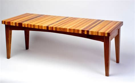 made laminated wood coffee table by uncommon
