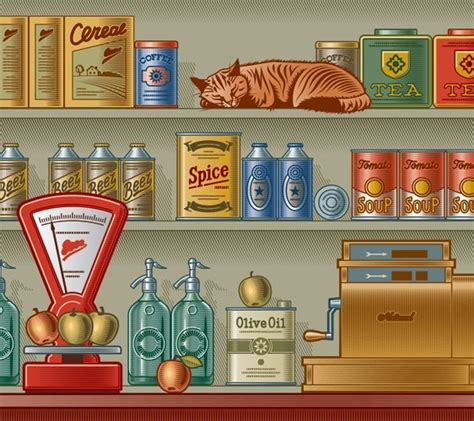 store layout elements free vector retro grocery store design elements 01 titanui