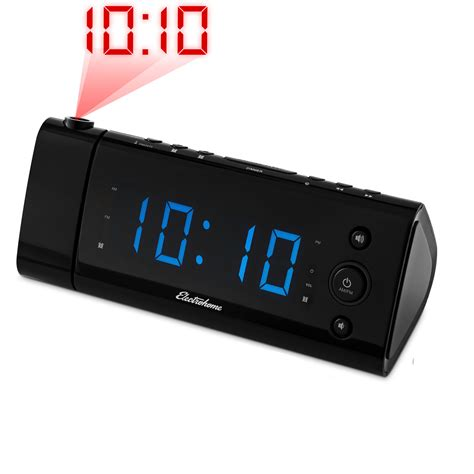 electrohome usb charging alarm clock radio with time projection ebay