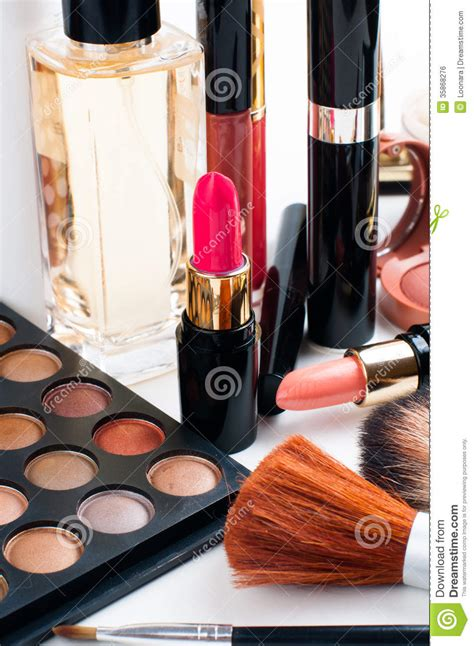 Lipstick Palette Makeover makeup and cosmetics set royalty free stock image image