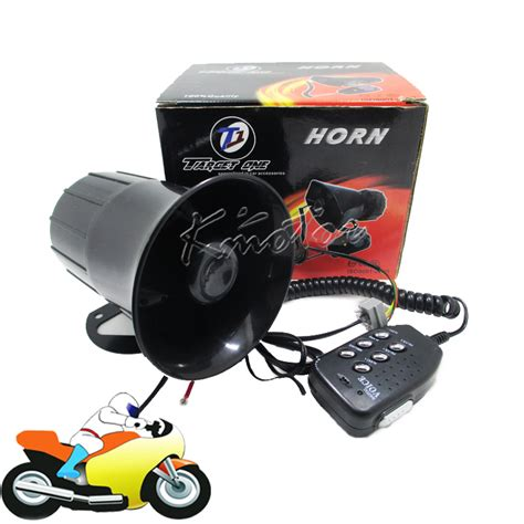 boat horn alarm sound 30w 12v motorcycle car auto loud air horn 125db siren