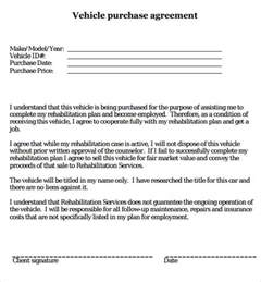 Contract Letter For Vehicle Auto Purchase Agreement Letter Sles Vlcpeque