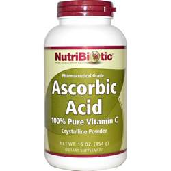 nutribiotic ascorbic acid crystalline powder 16 oz 454