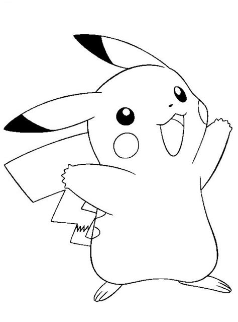 pokemon pikachu coloring pages free pickachu colouring pages