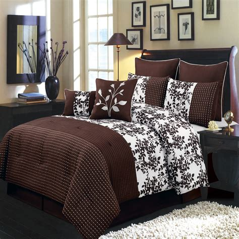 bliss chocolate and white luxury 12 piece comforter set ebay