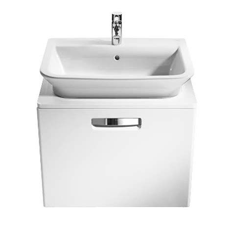 Roca The Gap Matt White Base Unit With Drawer For 500mm Basin Roca Kitchen Sink