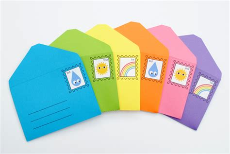 Paket Stiker Fancy Envelope Small diy play envelopes sts minieco