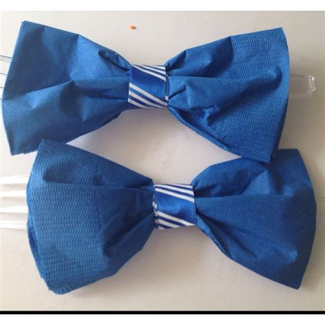 17 best ideas about bow tie napkins on