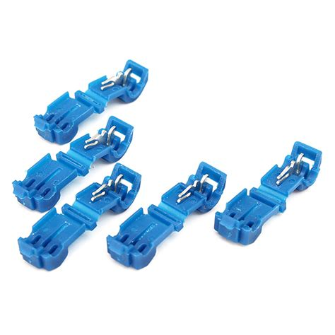 5pcs insulated wire connectors blue 18 14 awg audio